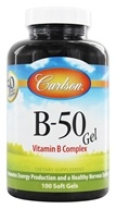 Carlson Labs - B-50 Gel Vitamin B Complex - 100 Softgels (088395020612)