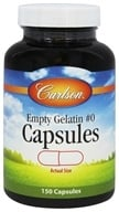 Carlson Labs - Empty Gelatin Capsules Size 0 Medium - 150 Capsules, from category: Nutritional Supplements