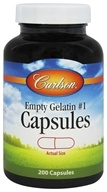 Carlson Labs - Empty Gelatin Capsules Size 1 Medium-Small - 200 Capsules by Carlson Labs