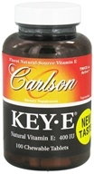 Carlson Labs - Key-E Natural Vitamin E 400 IU - 100 Chewable Tablets (088395001413)
