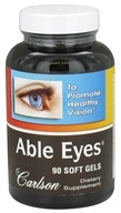 Carlson Labs - Able Eyes Healthy Vision - 90 Softgels - $40.62