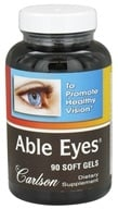 Image of Carlson Labs - Able Eyes Healthy Vision - 90 Softgels
