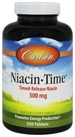 Carlson Labs - Niacin-Time 500 mg. - 250 Tablets (088395027925)