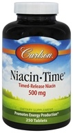 Carlson Labs - Niacin-Time 500 mg. - 250 Tablets - $14.34