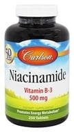 Carlson Labs - Niacin-amide 500 mg. - 250 Tablets (088395027529)