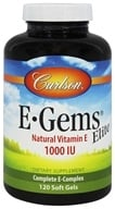 Carlson Labs - E Gems Elite Natural Vitamin E 1000 IU - 120 Softgels
