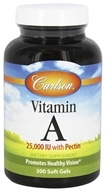 Carlson Labs - Vitamin A with Pectin 25000 IU - 300 Softgels, from category: Vitamins & Minerals