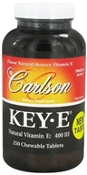 Carlson Labs - Key-E Natural Vitamin E 400 IU - 250 Chewable Tablets (088395001420)