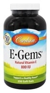 Carlson Labs - E-Gems 800 IU - 250 Softgels