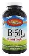 Carlson Labs - B-50 Gel Vitamin B Complex - 200 Softgels (088395020629)
