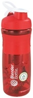 Image of Blender Bottle - SportMixer Tritan Grip Red/White - 28 oz. By Sundesa CLEARANCE PRICED