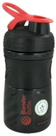 Image of Blender Bottle - SportMixer Tritan Grip Black/Red - 20 oz. By Sundesa