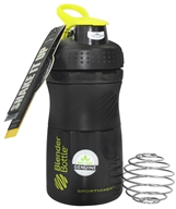 Blender Bottle - SportMixer Tritan Grip Black/Green - 20 oz. By Sundesa (847280000746)