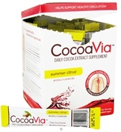 Mars Botanical - CocoaVia Cocoa Extract Beverage Mix Summer Citrus - 30 x 0.24 oz. - Packet(s)