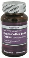 Image of ResVitale - Pure Youth Activating Green Coffee Bean Extract Svetol® with Raspberry Ketones - 60 Vegetarian Capsules