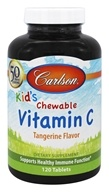 Carlson Labs - Kids Chewable Vitamin C 250 mg. - 120 Chewable Tablets - $8.99