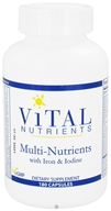Vital Nutrients - Multi-Nutrients with Iron and Iodine - 180 Capsules