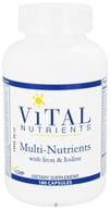 Image of Vital Nutrients - Multi-Nutrients with Iron and Iodine - 180 Capsules