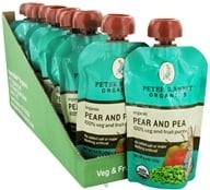 Image of Peter Rabbit Organics - Organic Fruit Snack 100% Pure Pear and Pea - 4 oz.