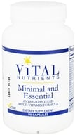 Vital Nutrients - Minimal and Essential Antioxidant and Multi-Vitamin Formula - 90 Capsules, from category: Professional Supplements