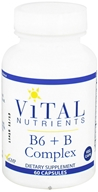 Vital Nutrients - B6 + B Complex - 60 Vegetarian Capsules by Vital Nutrients