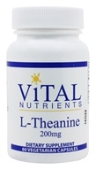Vital Nutrients - L-Theanine 200 mg. - 60 Vegetarian Capsules (693465263778)