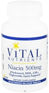 Vital Nutrients - Niacin 500 mg. - 90 Tablets