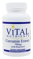 Vital Nutrients - Curcumin Extract with BioPerine 750 mg. - 60 Vegetarian Capsules - $44.20