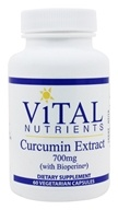 Image of Vital Nutrients - Curcumin Extract with BioPerine 750 mg. - 60 Vegetarian Capsules