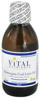 Image of Vital Nutrients - Norwegian Cod Liver Oil Lemon Flavor - 200 ml. DAILY DEAL