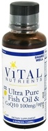 Image of Vital Nutrients - Ultra Pure Fish Oil and CoQ10 100 mg. Lemon Flavor - 4 oz. DAILY DEAL