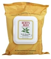 Burt's Bees - Facial Cleansing Towelettes White Tea - 30 Towelette(s)