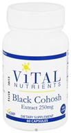 Vital Nutrients - Black Cohosh Extract 250 mg. - 60 Vegetarian Capsules