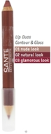 Sante - Lip Duo Contour & Gloss 03 Glamorous Look - 4 Grams CLEARANCE PRICED - $10.19