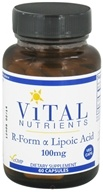 Vital Nutrients - R-Form Lipoic Acid 100 mg. - 60 Vegetarian Capsules by Vital Nutrients
