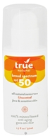 True Natural Cosmetics - Broad Spectrum All Natural Sunscreen For Face & Sensitive Skin Unscented 50 SPF - 1.7 oz.