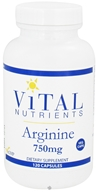 Image of Vital Nutrients - Arginine 750 mg. - 120 Vegetarian Capsules
