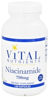Vital Nutrients - Niacinamide 750 mg. - 120 Vegetarian Capsules by Vital Nutrients