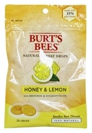 Burt's Bees - Natural Throat Drops Honey & Lemon - 20 Count