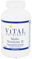 Vital Nutrients - Multi-Nutrients II Chelate/Malate Formula - 180 Capsules