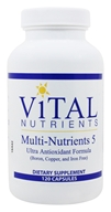 Vital Nutrients - Multi-Nutrients V with Antioxidants - 120 Capsules (693465533116)