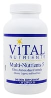 Vital Nutrients - Multi-Nutrients V with Antioxidants - 120 Capsules by Vital Nutrients