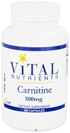 Vital Nutrients - Carnitine 500 mg. - 60 Capsules DAILY DEAL by Vital Nutrients