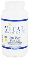 Vital Nutrients - Ultra Pure Fish Oil DHA 500/EPA 125 Lemon Flavor - 90 Capsules