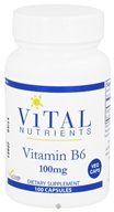 Image of Vital Nutrients - Vitamin B6 100 mg. - 100 Vegetarian Capsules