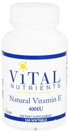 Image of Vital Nutrients - Natural Vitamin E 400 IU - 100 Softgels