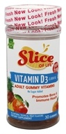 Hero Nutritional Products - Slice of Life Sugar Free with Vitamin D3 Adult Gummy Vitamins 2000 IU - 30 Gummies