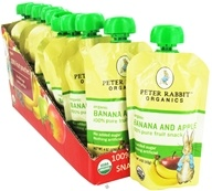 Peter Rabbit Organics - Organic Fruit Snack 100% Pure Banana and Apple - 4 oz. (815367010179)