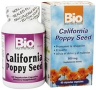 Bio Nutrition - California Poppy Seed 500 mg. - 60 Vegetarian Capsules