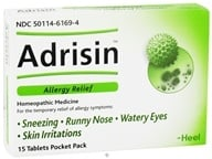BHI/Heel - Adrisin Allergy Relief - 1 Pack CLEARANCE PRICED - $2.67